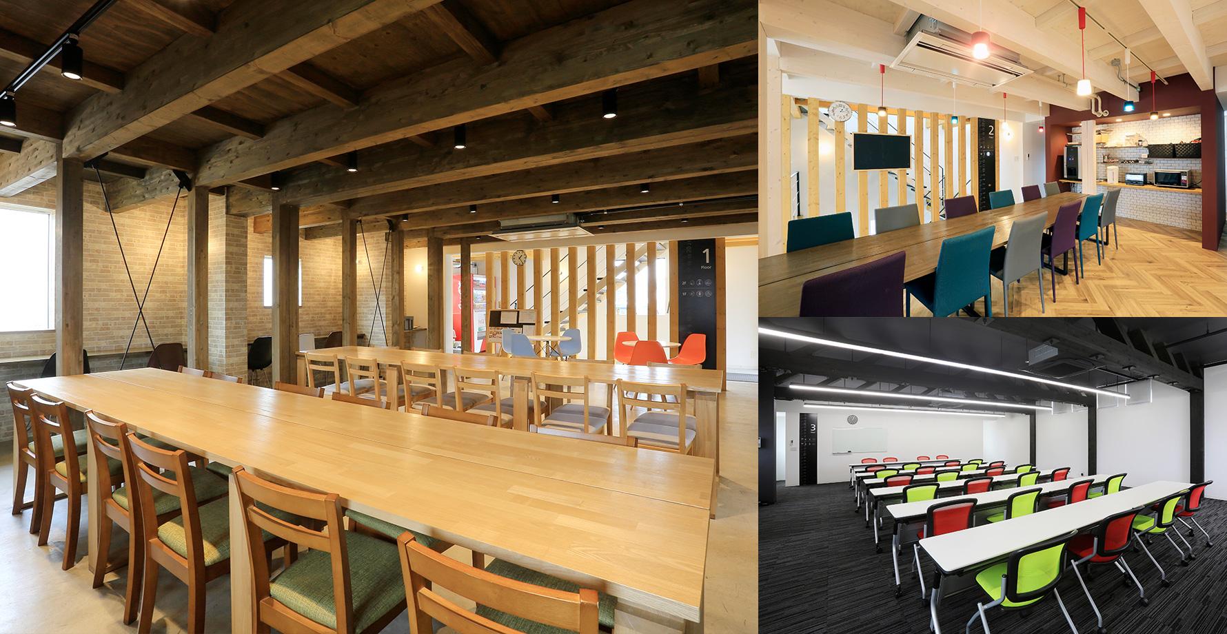 社員食堂と会議室をリニューアル